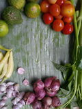vegetables border frame background Royalty Free Stock Photos