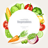 Vegetables background round Royalty Free Stock Image