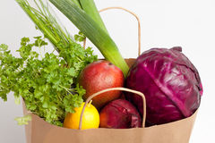 Vegetables bag Stock Images