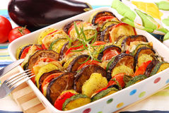 Vegetables baked with cheese Royalty Free Stock Image