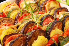 Vegetables baked with cheese Royalty Free Stock Photo