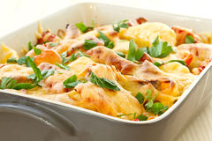 Vegetables baked with cheese Royalty Free Stock Photos
