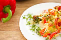 Vegetables baked with cheese Royalty Free Stock Images