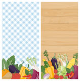 Vegetables banners Royalty Free Stock Photography
