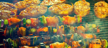 Vegetables Barbecue Grill Royalty Free Stock Image