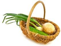 Vegetables in basket Royalty Free Stock Images