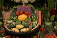 Vegetables in basket Stock Image