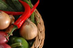 Vegetables in the basket Stock Photos