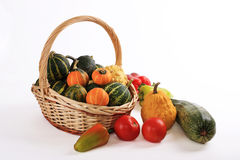 Vegetables in a basket. Autumn time - time of harvesting of vegetables Royalty Free Stock Image