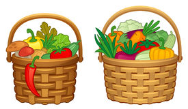 Vegetables in basket Royalty Free Stock Photos
