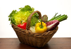 Vegetables basket Stock Photos