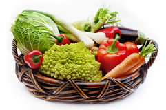 Vegetables in the basket-2 Stock Photography