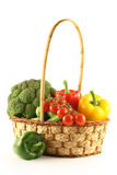 Vegetables in a basket Royalty Free Stock Photography