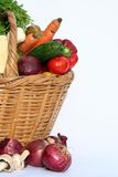 Vegetables and basket royalty free stock photo