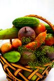 Vegetables in basket Royalty Free Stock Photography