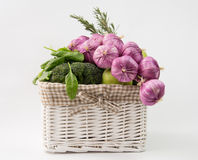 Vegetables basket royalty free stock photo
