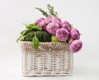 Vegetables basket Royalty Free Stock Photo