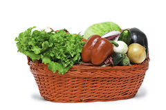Vegetables in basket. A colourful picture of some vegetables in basket Royalty Free Stock Images