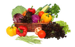 Vegetables in basket stock photography