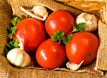 Vegetables in basket Royalty Free Stock Images