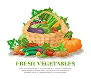 Vegetables Basket Still Life Stock Photo