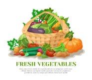 Vegetables Basket Still Life Stock Photo