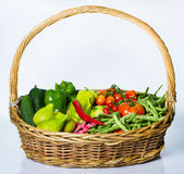 Vegetables Basket Royalty Free Stock Photos
