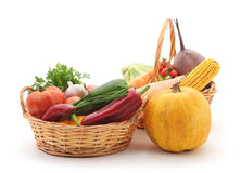 Vegetables in baskets. Royalty Free Stock Photo