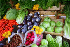 Vegetables at bazaar Stock Photos