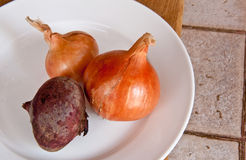 Vegetables. Beet, onion. Stock Images