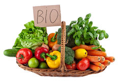 Vegetables Bio Arrangement Royalty Free Stock Image