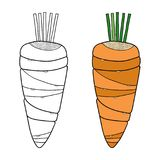 Vegetables. Black and white illustration for coloring book or page. Vector Vector Illustration