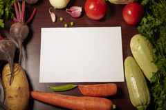 Vegetables and blank