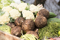 Vegetables on boats Royalty Free Stock Images