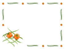 Vegetables border, isolated. Vegetables border Stock Images