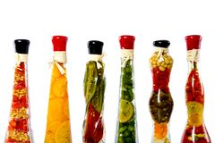 Vegetables in a bottle Royalty Free Stock Photos
