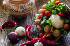 Vegetables bouquet unusual Royalty Free Stock Images