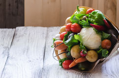 Vegetables bouquet unusual Royalty Free Stock Photo