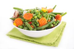 Vegetables on bowl Stock Images