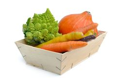 Vegetables in boxes Royalty Free Stock Photo