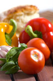 Vegetables and bread Royalty Free Stock Photos