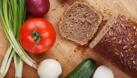Vegetables and bread Royalty Free Stock Photography