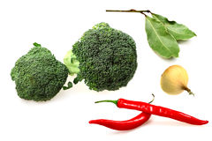 Vegetables broccoli, red pepper Stock Photo
