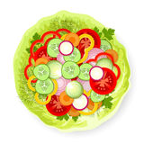 Vegetables on cabbage leaf Stock Photo