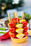 Vegetables canape Stock Photos
