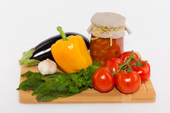 Vegetables canning Stock Photography