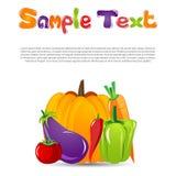Vegetables card Stock Photos