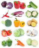 Vegetables carrots fresh bell pepper lettuce tomatoes collection Royalty Free Stock Photography