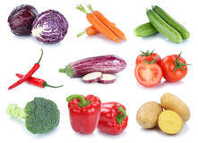 Vegetables carrots fresh bell pepper potatoes tomatoes collectio Stock Image