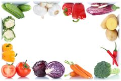 Vegetables carrots fresh food vegetable tomatoes bell pepper fra Royalty Free Stock Photos
